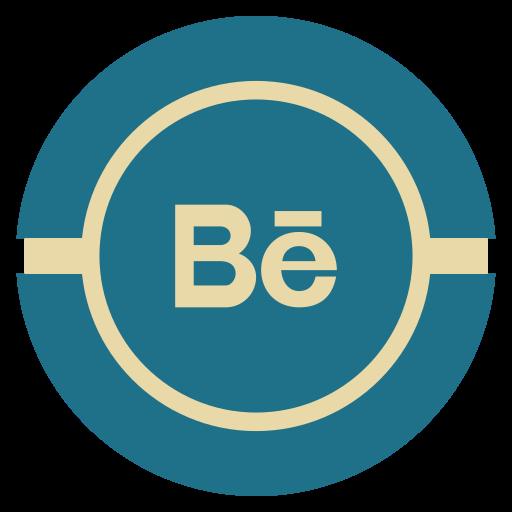 Behance, media, social, vintage icon - Free download