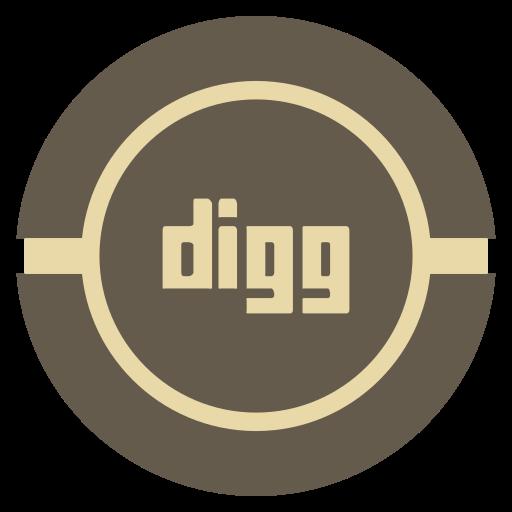 digg, media, social, vintage icon