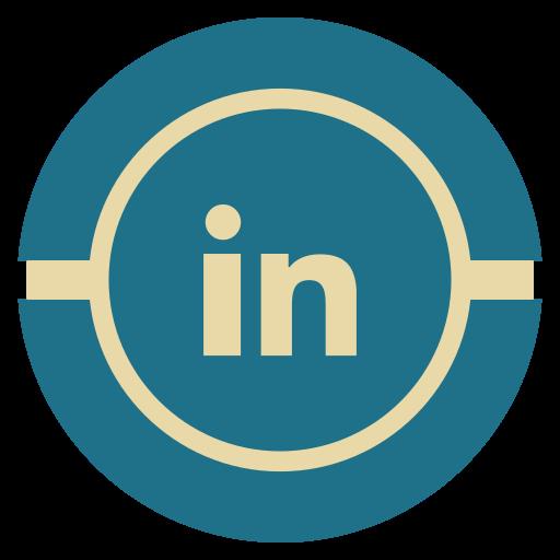 linkedin, media, social, vintage icon