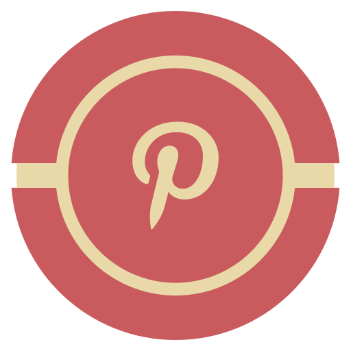 media, pintrest, social, vintage icon