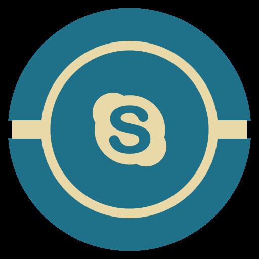 media, skype, social, vintage icon