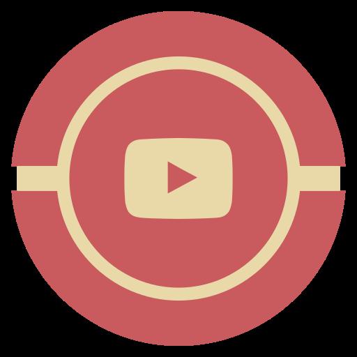 media, social, vintage, youtube icon