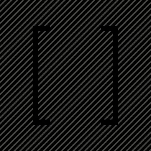 bracket, code, script, square icon