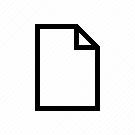 blank, file, new file, open file, page, paper icon