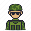 army, avatar, profession, society, soldier, troops, war icon