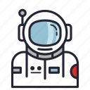 adventure, astronaut, avatar, galaxy, profession, society, space icon