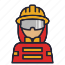 avatar, fire, fireman, guard, profession, saver, society icon