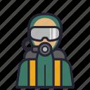 avatar, dive, diver, profession, society, swim, vacation icon