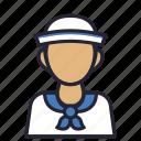 avatar, beach, profession, sailor, sailorman, sea, society icon