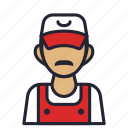 avatar, engineer, profession, repairman, service, society icon