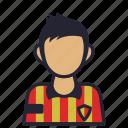 avatar, ball, captain, football, player, profession, society icon