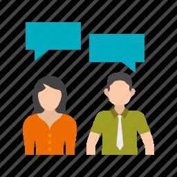 business, communication, leadership, office, people, professional, skills icon