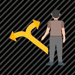 businessman, comparison, decision, evaluation, making, person icon