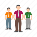 business, leadership, office, people, skill, strategy, team icon