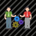 development, group, skill, skills, success, team, training icon