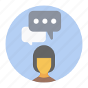 chatting, comments, communication, conversation, discussion icon