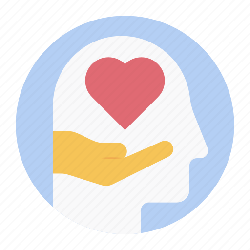 brain care, empathy, healthcare, mental care, mental health icon
