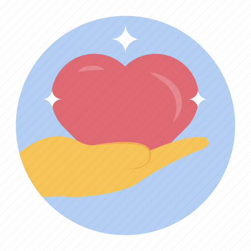 care, give love, heart care, heart donation, loyalty icon
