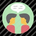 chatting, comments, communication, conversation, forum discussion, negotiation icon
