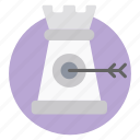 mission target, pawn, planning target, strategy goals, target strategy icon