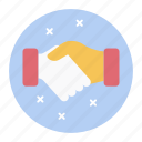 agreement, cooperation, coordination, handshake, relationship, teamwork icon
