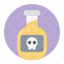 dangerous poison, deathly liquid, liquid bottle, poison, poison bottle, potion icon