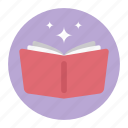 book, novel, open book, reading book, study, success book icon