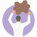 business solution, core competencies, problem solution, problem solving, strategic planning icon