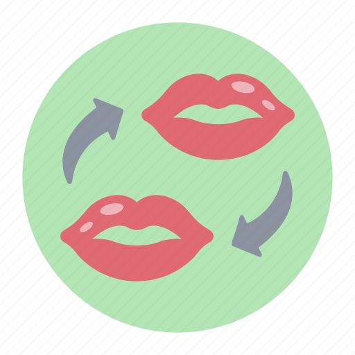 communication, female lips, kisses, lips, romantic chat icon