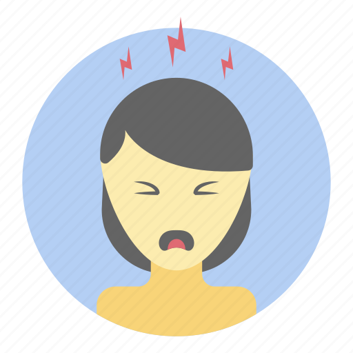 annoying, disappointed, emotion, fatigue, stressful person icon
