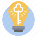 bulb, creative idea, idea solution, invention, light bulb icon