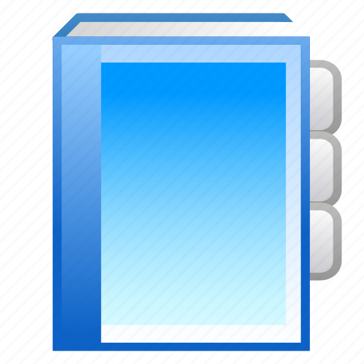 book, bookmark, contacts icon