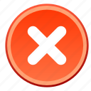 cancel, close, delete, exit, logout, remove, trash icon