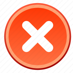 cancel, close, delete, exit, logout, remove, trash icon