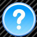 faq, help, mark, query, question, support, info