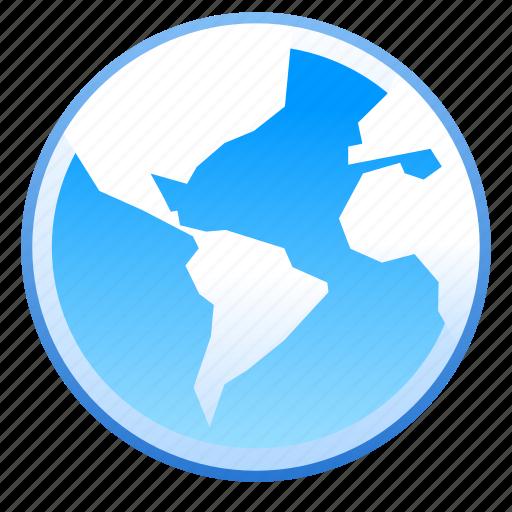 globe, internet, location, map, network, web icon