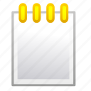 note, notepad, notes, paper, text, write icon
