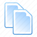 document, documents, files, paste icon