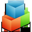blocks, boxes, modules, organize icon