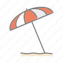 beach, parasol, seaside, sunshade, travel, vacations icon
