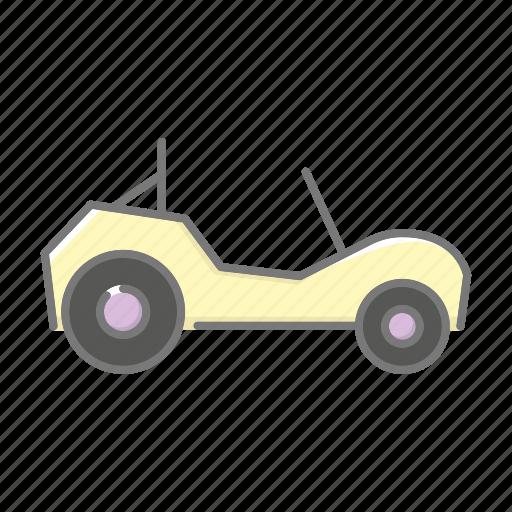 beach, beach buggy, car, motor vehicle, seaside, travel, vacations icon