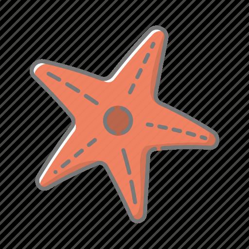 animal, beach, mollusk, seaside, starfish, travel, vacations icon
