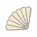 beach, seafood, seaside, shell, shellfish, travel, vacations icon