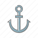 anchor, beach, seaside, ship, travel, vacations icon