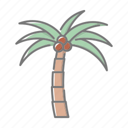beach, palm tree, seaside, travel, tropical, vacations icon
