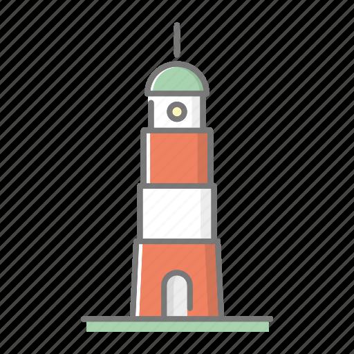 beach, beacon, landmark, lighthouse, seaside, travel, vacations icon