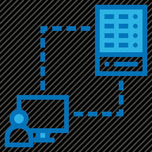 client, connection, development, server, software icon
