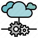 cloud, development, server, service, software icon