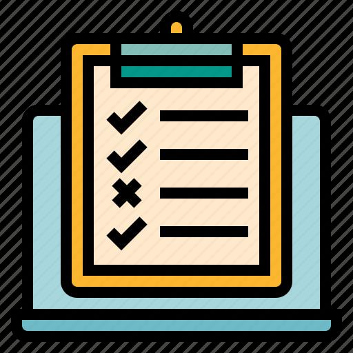 checklist, development, requirment, software, testing icon