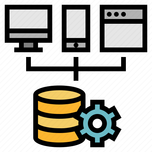 database, development, platform, service, software, web icon
